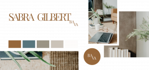 Sabra Gilbert, Badass Virtual Assistant Rebrand Option 1. Although the vibe was calming and and casual, it wasn't the option Sabra loved the most. We did keep the Badass Virtual Assistant vibe though!